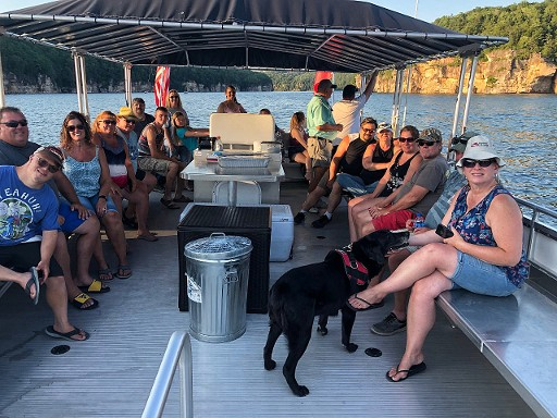Dinner Cruise on Summersville Lake, WV with Sarge's Dive Shop